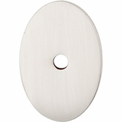 "Top Knobs - Sanctuary Collection - Oval Backplate Medium 1 1/2"" - Brushed Satin Nickel - TK60BSN"