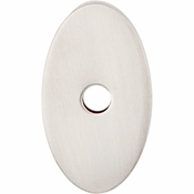 "Top Knobs - Sanctuary Collection - Oval Backplate Small 1 1/4"" - Brushed Satin Nickel - TK58BSN"