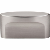 "Top Knobs - Sanctuary Collection - Oval Slot Knob Medium 1 1/2"" (c-c) - Brushed Satin Nickel - TK74BSN"