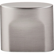 "Top Knobs - Sanctuary Collection - Oval Slot Knob Small 3/4"" (c-c) - Brushed Satin Nickel - TK73BSN"