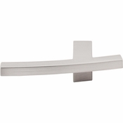 "Top Knobs - Sanctuary Collection - Slanted A Knob 3"" - Brushed Satin Nickel - TK84BSN"
