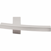 "Top Knobs - Sanctuary Collection - Slanted B Knob 3"" - Brushed Satin Nickel - TK85BSN"