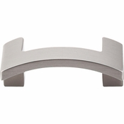 "Top Knobs - Sanctuary II Collection - Euro Arched Knob 1 3/4"" (c-c) - Brushed Satin Nickel - TK248BSN"