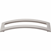 "Top Knobs - Sanctuary II Collection - Euro Arched Pull 5"" (c-c) - Brushed Satin Nickel - TK247BSN"