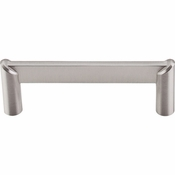 "Top Knobs - Sanctuary II Collection - Meadows Edge Circle Pull 3 1/2"" (c-c) - Brushed Satin Nickel - TK239BSN"