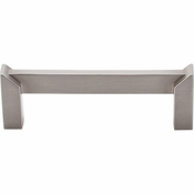 "Top Knobs - Sanctuary II Collection - Meadows Edge Pull 3 1/2"" (c-c) - Brushed Satin Nickel - TK235BSN"
