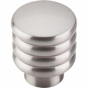 "Top Knobs - Sanctuary II Collection - Modern Deco Knob 1"" - Brushed Satin Nickel - TK265BSN"