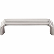 "Top Knobs - Sanctuary II Collection - Modern Deco Pull 3 3/4"" (c-c) - Brushed Satin Nickel - TK262BSN"