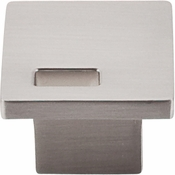 "Top Knobs - Sanctuary II Collection - Modern Metro Slot Knob 1 1/4"" - Brushed Satin Nickel - TK269BSN"