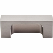 "Top Knobs - Sanctuary II Collection - Modern Metro Tab Pull 2"" (c-c) - Brushed Satin Nickel - TK275BSN"