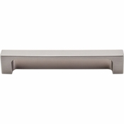 "Top Knobs - Sanctuary II Collection - Modern Metro Tab Pull 5"" (c-c) - Brushed Satin Nickel - TK276BSN"