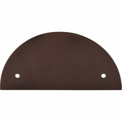"Top Knobs - Sanctuary Collection - Half Circle Backplate 3 1/2"" (c-c) - Oil Rubbed Bronze - TK54ORB"