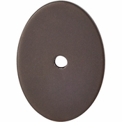 "Top Knobs - Sanctuary Collection - Oval Backplate Large 1 3/4"" - Oil Rubbed Bronze - TK62ORB"