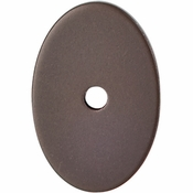 "Top Knobs - Sanctuary Collection - Oval Backplate Medium 1 1/2"" - Oil Rubbed Bronze - TK60ORB"