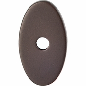 "Top Knobs - Sanctuary Collection - Oval Backplate Small 1 1/4"" - Oil Rubbed Bronze - TK58ORB"