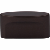 "Top Knobs - Sanctuary Collection - Oval Slot Knob Medium 1 1/2"" (c-c) - Oil Rubbed Bronze - TK74ORB"