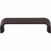 "Top Knobs - Sanctuary II Collection - Modern Deco Pull 3 3/4"" (c-c) - Oil Rubbed Bronze - TK262ORB"