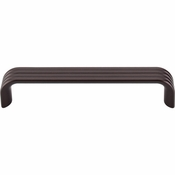 "Top Knobs - Sanctuary II Collection - Modern Deco Pull 5"" (c-c) - Oil Rubbed Bronze - TK263ORB"