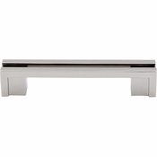 "Top Knobs - Sanctuary Collection - Flat Rail Pull 3 1/2"" (c-c) - Polished Nickel - TK55PN"