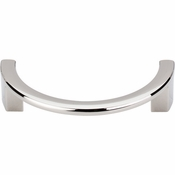"Top Knobs - Sanctuary Collection - Half Circle Open Pull 3 1/2"" (c-c) - Polished Nickel - TK53PN"