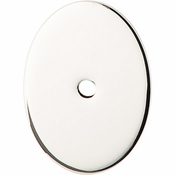 "Top Knobs - Sanctuary Collection - Oval Backplate Large 1 3/4"" - Polished Nickel - TK62PN"