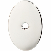 "Top Knobs - Sanctuary Collection - Oval Backplate Medium 1 1/2"" - Polished Nickel - TK60PN"