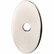 """Top Knobs - Sanctuary Collection - Oval Backplate Small 1 1/4"""" - Polished Nickel - TK58PN"""