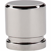 """Top Knobs - Sanctuary Collection - Oval Knob Small 1"""" - Polished Nickel - TK57PN"""