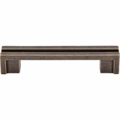 "Top Knobs - Sanctuary Collection - Flat Rail Pull 3 1/2"" (c-c) - German Bronze - TK55GBZ"