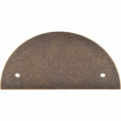 "Top Knobs - Sanctuary Collection - Half Circle Backplate 3 1/2"" (c-c) - German Bronze - TK54GBZ"