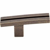 "Top Knobs - Sanctuary Collection - Inset Rail Knob 2 5/8"" - German Bronze - TK82GBZ"