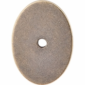 """Top Knobs - Sanctuary Collection - Oval Backplate Large 1 3/4"""" - German Bronze - TK62GBZ"""