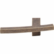 "Top Knobs - Sanctuary Collection - Slanted A Knob 3"" - German Bronze - TK84GBZ"