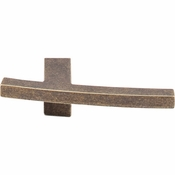 "Top Knobs - Sanctuary Collection - Slanted B Knob 3"" - German Bronze - TK85GBZ"