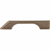 "Top Knobs - Sanctuary Collection - Tapered Bar Pull 5"" (c-c) - German Bronze - TK14GBZ"