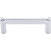 "Top Knobs - Sanctuary II Collection - Meadows Edge Circle Pull 3 1/2"" (c-c) - Aluminum - TK239ALU"