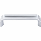"Top Knobs - Sanctuary II Collection - Modern Deco Pull 3 3/4"" (c-c) - Aluminum - TK262ALU"