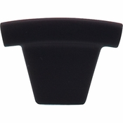 "Top Knobs - Sanctuary Collection - Arched Knob 1 1/2"" - Flat Black - TK1BLK"