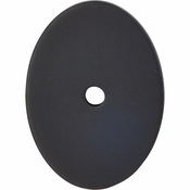 "Top Knobs - Sanctuary Collection - Oval Backplate Large 1 3/4"" - Flat Black - TK62BLK"
