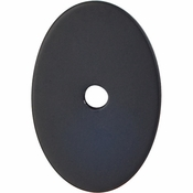 "Top Knobs - Sanctuary Collection - Oval Backplate Medium 1 1/2"" - Flat Black - TK60BLK"