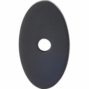 "Top Knobs - Sanctuary Collection - Oval Backplate Small 1 1/4"" - Flat Black - TK58BLK"