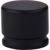 "Top Knobs - Sanctuary Collection - Oval Knob Large 1 3/8"" - Flat Black - TK61BLK"