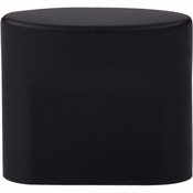 "Top Knobs - Sanctuary Collection - Oval Slot Knob Small 3/4"" (c-c) - Flat Black - TK73BLK"
