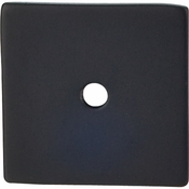 "Top Knobs - Sanctuary Collection - Square Backplate 1 1/4"" - Flat Black - TK95BLK"