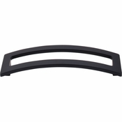 "Top Knobs - Sanctuary II Collection - Euro Arched Pull 5"" (c-c) - Flat Black - TK247BLK"