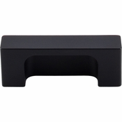 "Top Knobs - Sanctuary II Collection - Modern Metro Tab Pull 2"" (c-c) - Flat Black - TK275BLK"