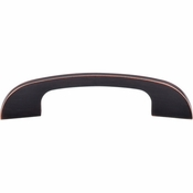 """Top Knobs - Sanctuary Collection - Curved Tidal Pull 4"""" (c-c) - Tuscan Bronze - TK41TB"""
