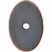 """Top Knobs - Sanctuary Collection - Oval Backplate Medium 1 1/2"""" - Tuscan Bronze - TK60TB"""