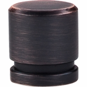 """Top Knobs - Sanctuary Collection - Oval Knob Small 1"""" - Tuscan Bronze - TK57TB"""