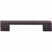 """Top Knobs - Sanctuary Collection - Linear Pull 5"""" (c-c) - Tuscan Bronze - TK23TB"""